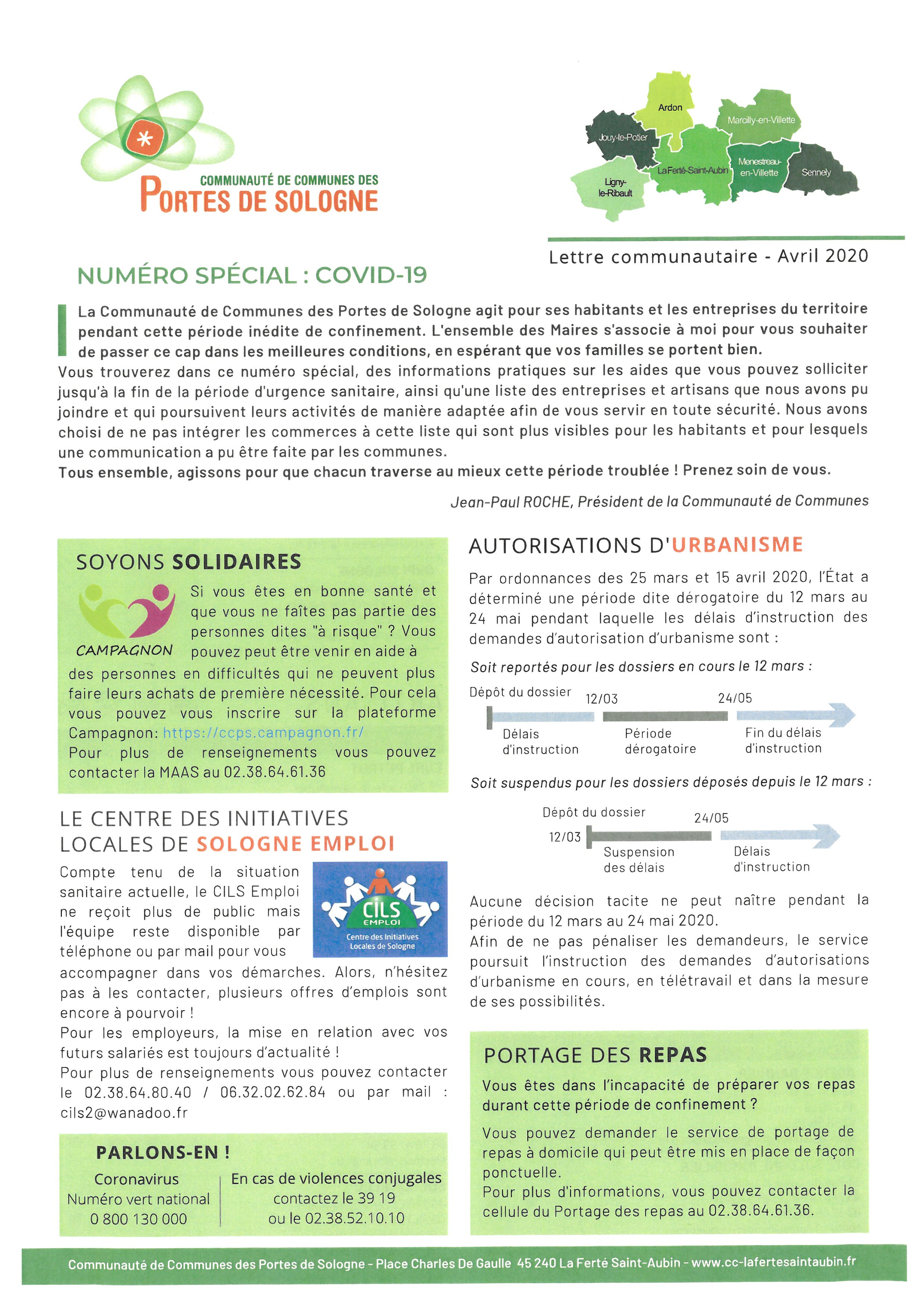 Newsletter CCPS Avril 2020 COVID 19 1